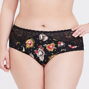 Torrid sacred heart black panties 2x